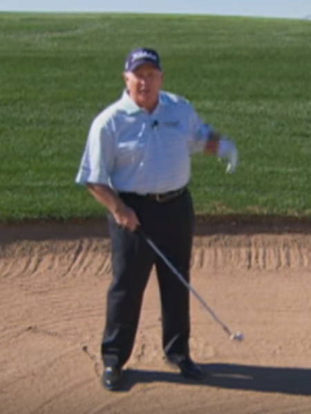 Screenshot from lesson titled - 40 Yard Bunker Shot - by Butch Harmon