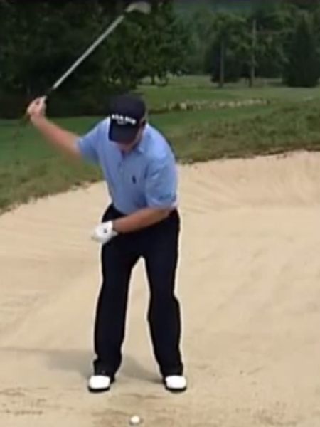Screenshot from lesson titled - Bunker play drill - by Tom Watson