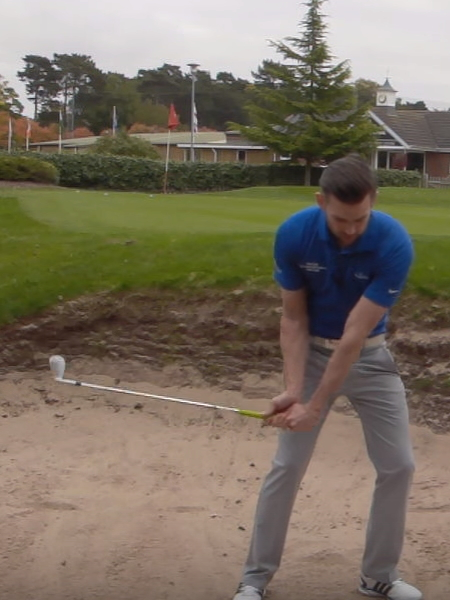 Screenshot from lesson titled - Three keys to bunker play - by Chris Ryan