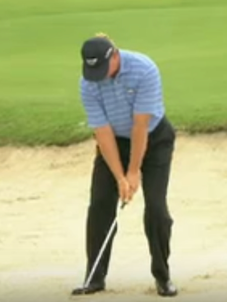 Screenshot from lesson titled - Greenside Bunker Play - by Gary Player, Ernie Els, David Leadbetter