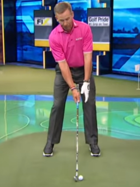 Screenshot from lesson titled - Get into proper golf posture for a better swing - by Michael Breed