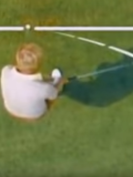 Screenshot from lesson titled - Position the ball correctly in your stance - by Jack Nicklaus