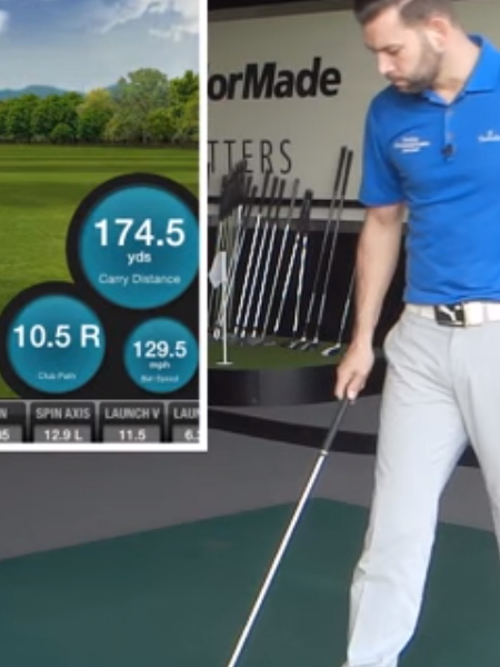 Screenshot from lesson titled - Make your stance with the correct ball position - by Chris Ryan