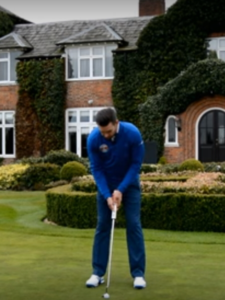 Screenshot from lesson titled - Three Top Putting Tips - by Chris Ryan, Andy Proudman and Piers Ward